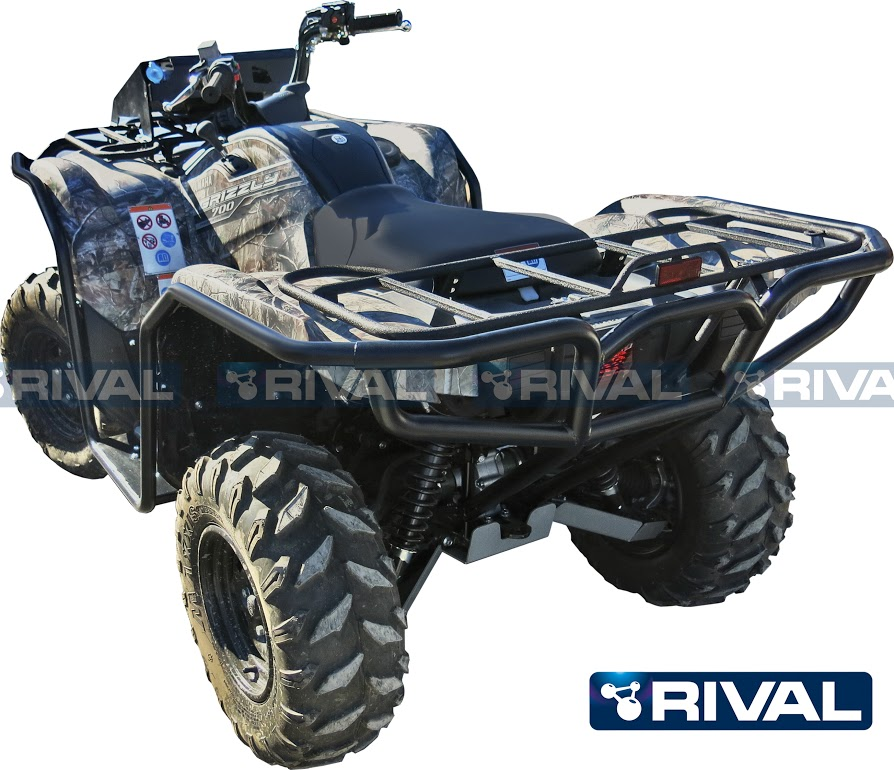 front amp rear bumpers side bars set for atv yamaha