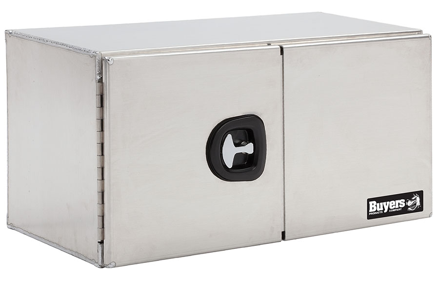 Aluminum barn door toolbox size 24 x 24 x 48 for 48 inch barn door