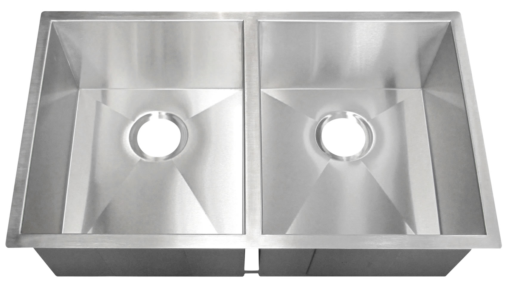 Stainless Steel Miami Double Bowl 90 Degree Sink - Aggranite Sinks