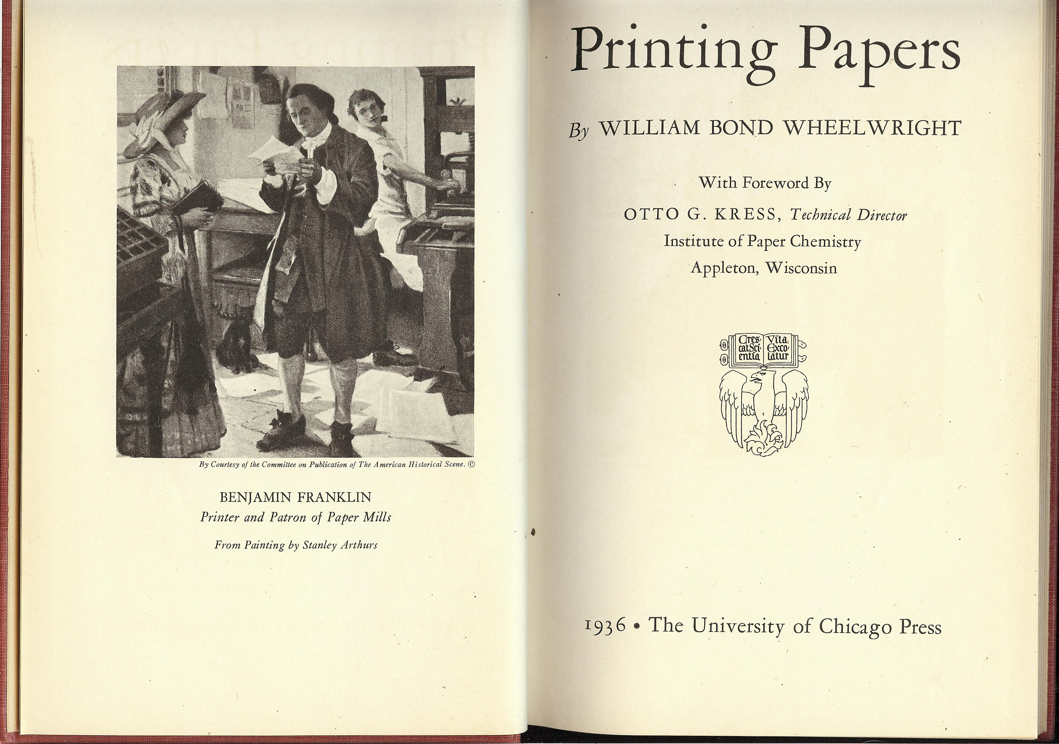Printing Papers  Limited Edition 2 000 Copies By