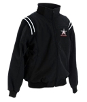 AHSAA Thermal Full Zip Umpire Black Jacket w/ Black/White Trim