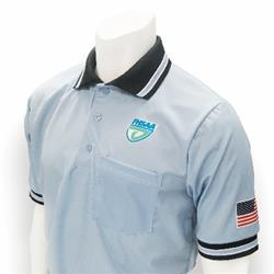 "FHSAA ""Carolina Blue"" Embroidered Baseball Short-Sleeve Umpire Shirt"