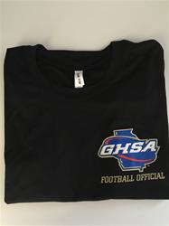 GHSA Football OfficialBlack Mositure Wicking T-Shirt