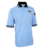 LHSOA Embroidered MLB Powder Blue Shirt w/ Black Collar Short Sleeve Baseball Shirt