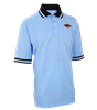MHSAA Embroidered Powder Blue w/ Black Collar Baseball Shirt