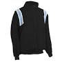 Major League Style Jacket Black w/ Powder Blue/White Trim