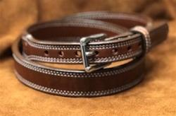 "In-Stock 1 1/4"" Taper to 1"" Carry Belt Size 40 Saddle Brown"