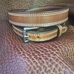 "In-Stock 1 1/4"" Carry Belt Size 38  Saddle Brown"
