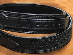 "In-Stock 1 3/4"" Ranger Belt w/1"" Billets Size 34 Basket Weave Black"