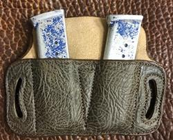 Add Chocolate Bull Hide To Your Double Mag Pouch