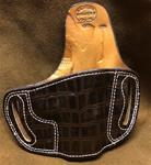 SALE Belt Slide for 1911's Right Hand Draw in Faux Alligator w/pink stitch
