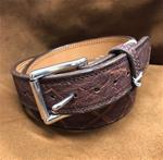 "SALE Size 36 1/2"" Belt Genuine Elephant-Chestnut"