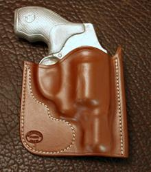 In-Stock Pocket Holster for S&W J Frame Saddle Brown