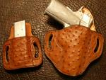 Add Full Quill Ostrich Cognac for Double Mag Holder