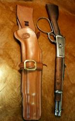 Henry Mares Leg Ranch Hand Holster Saddle Brown Plain