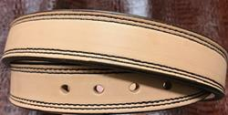 "SALE 1 1/4"" Carry Belt Size 35 Natural w/black stitching"