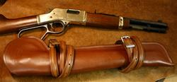 In-Stock Henry Mares Leg Saddle Scabbard in Saddle Brown