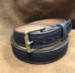 "SALE Size 36 1 1/4"" Belt Genuine Tiger Shark-Brown"