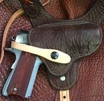 Shoulder Holster Chocolate Bullhide A Custom Fit Your Gun