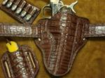 Add Belly Alligator Med Brown for Holster