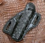 Add Full Quill Ostrich Black for Holster