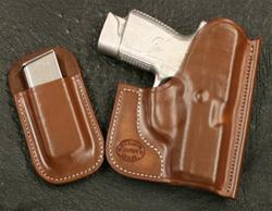 Kahr PM and MK 9/40 Saddle Brown Pocket Holster and Mag Holder