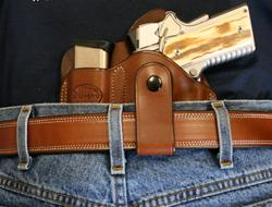 """Texas Conceal Carry"" for 1911 3"" w/ Belt Loop LH"