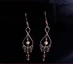 Hooped Teardrops With Chain Maille