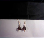 Pearl and Amethst Earring Accents With Chain Maille Accents