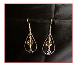 Teardrop Earrings With Crystals and Chain Maille