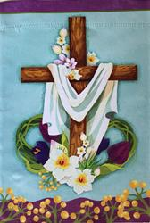 12 x 18 Easter Cross Garden Flag
