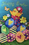 12 x 18 Happy Easter Chicks Garden Flag