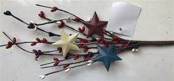 "12"" Americana Berry Pick With Stars"