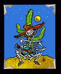 Archival Paper Art Print- Framed 'Cactus Moonlight Serenade'