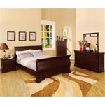 Big Louie Sleigh Bed 7-Piece Suite