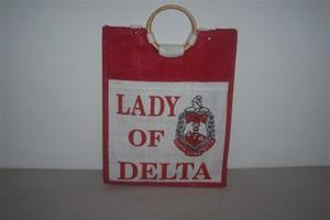 "Delta ""Lady of Diva"" Jute Bag"