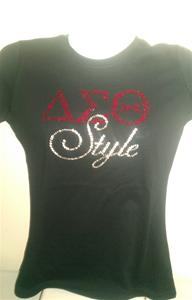 Delta Bling DST Style Fitted Tee
