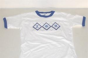 "Zeta ""Argyle"" Fitted Tee"
