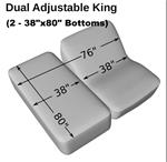 Dual Adjustable King (2-Twin XL 39 x 80) Cotton Quilted Mattress Pad