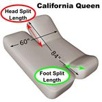 "California Queen 60"" x 84"" Split Head and Foot Adjustable Sheet Set 600 Thread Count"