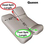 "Queen 60"" x 80"" Split Head and Foot Adjustable Sheet Set 600 Thread Count"