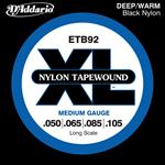 D'Addario Nylon Tapewound Bass Strings
