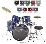 Percussion Plus PP3500 Deluxe 5-Piece Drum Set (w/ Cymbals & Throne)