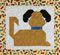 "364192 - Puppy Dog Tails Table Topper & Placemat - Topper [34"" x 34""], Placmat [17 1/2"" x 15 3/4""]"
