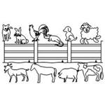Animal Farm Set -  26 Automated Quilting Designs - RGS004