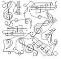 Music Set - 8 Automated Quilting Designs - RGS064