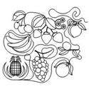 Produce Fruit Set - 38 Automated Quilting Designs - RGS065