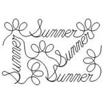 Seasons Summer Set - 1 Automated Quilting Design - RGS071