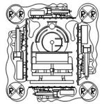 Train Set - 7 Automated Quilting Designs - RGS052