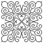 Wrought Iron Set - Medallion - 16 Automated Quilting Design - RGS085
